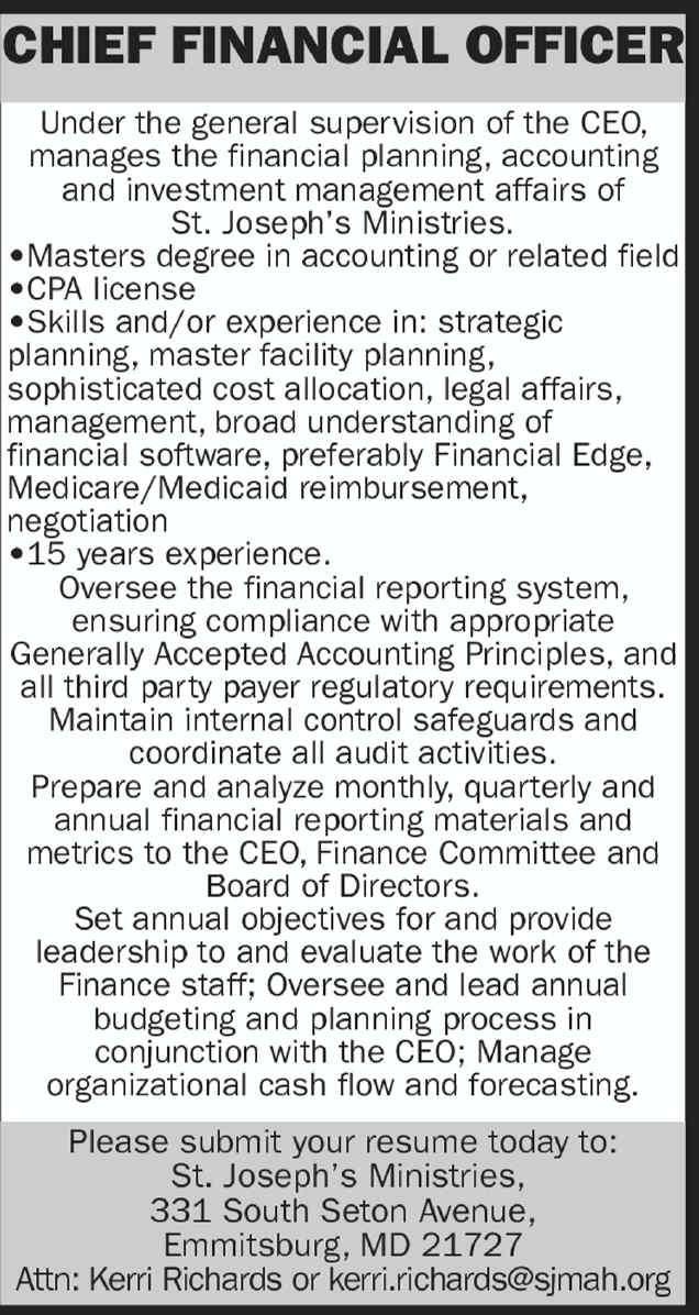 Job details chief financial officer - Legal compliance officer job description ...