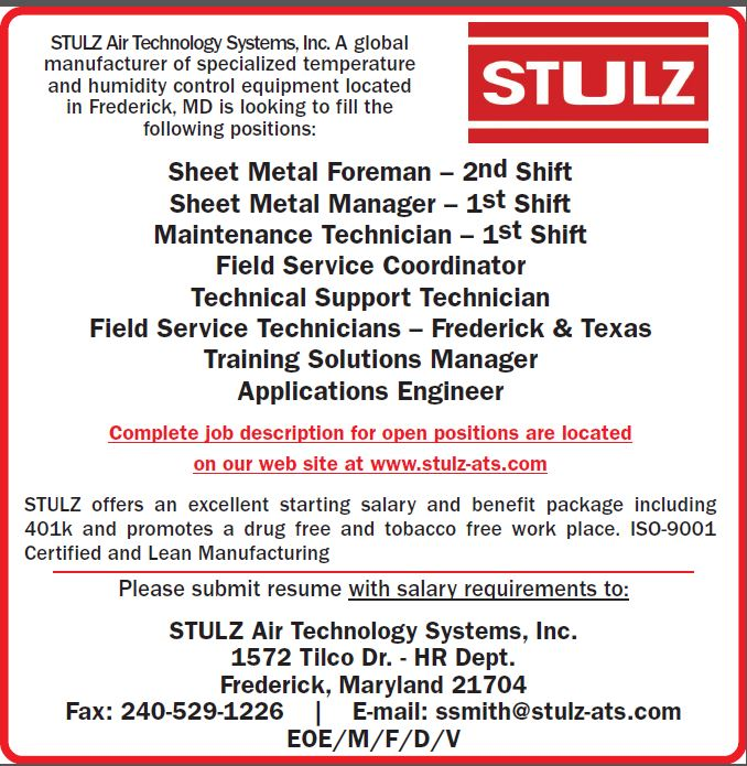 Job Details | STULZ at STULZ