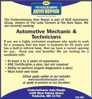 job details automotive mechanic technicians at fredericktowne auto repair